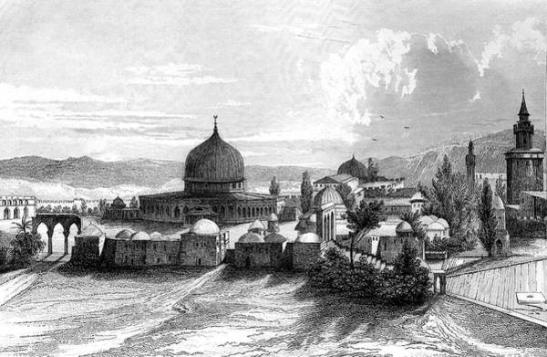 Jerusalem Photograph - The Dome Of The Rock by Collection Abecasis/science Photo Library