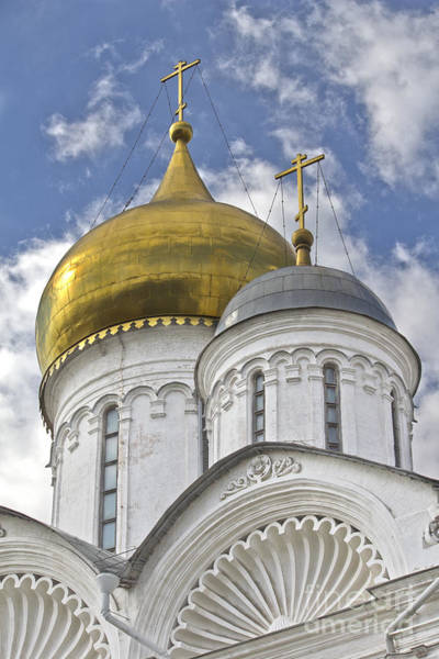 Photograph - The Domes Of Archangel Cathedral by Elena Nosyreva
