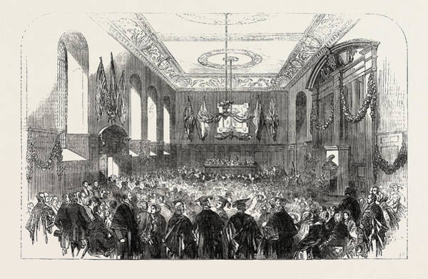 1854 Drawing - The Domum At Winchester College by English School