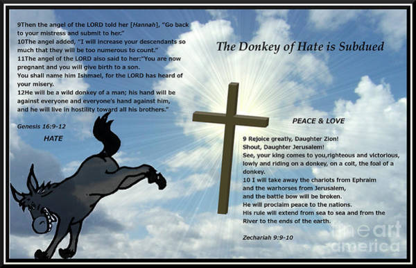 The Donkey Of Hate Is Subdued Art Print