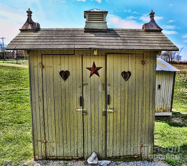 Wall Art - Photograph - The Double Love Boat Outhouse by Lee Dos Santos