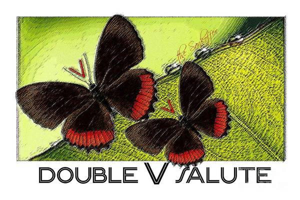 Journalist Digital Art - The Double V Salute by The Sankoffer