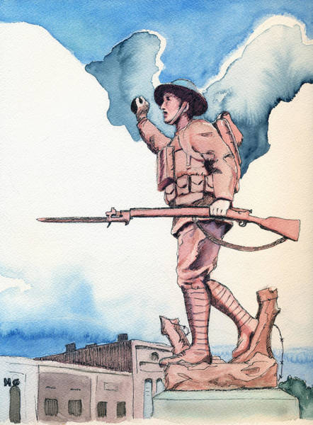 Painting - The Doughboy Stands by Katherine Miller
