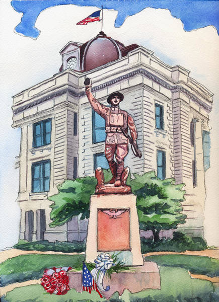 Painting - The Doughboy Statue by Katherine Miller