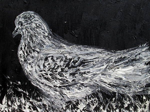 Roost Painting - The Dove - Oil Portrait by Fabrizio Cassetta