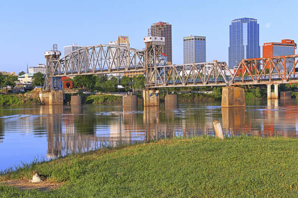 Photograph - The Downtown Cat Of Little Rock - Arkansas - River - Skyline by Jason Politte