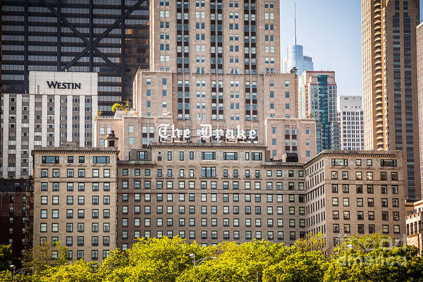 Editorial Photograph - The Drake Hotel In Downtown Chicago by Paul Velgos