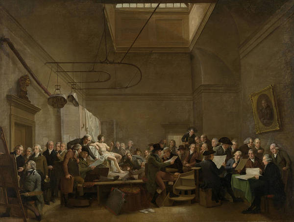 Wall Art - Drawing - The Drawing Gallery Of The Felix Meritis Society by Litz Collection
