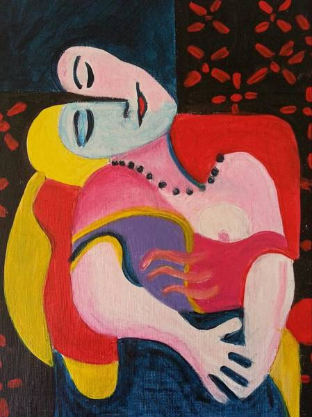 Painting - The Dream After Picasso by Nikki Dalton
