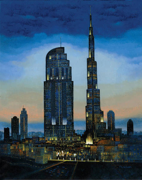 Painting - The Dream City by Art Tantra