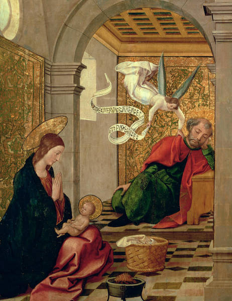 Archway Painting - The Dream Of Saint Joseph by Juan de Borgona