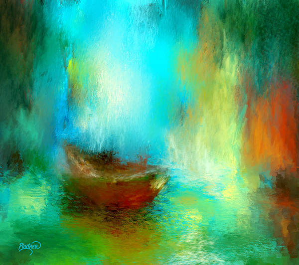 Impressionist Digital Art - The Drifter by Patricia Lintner