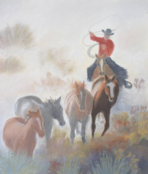 Pastel - The Drover by Sherri Anderson