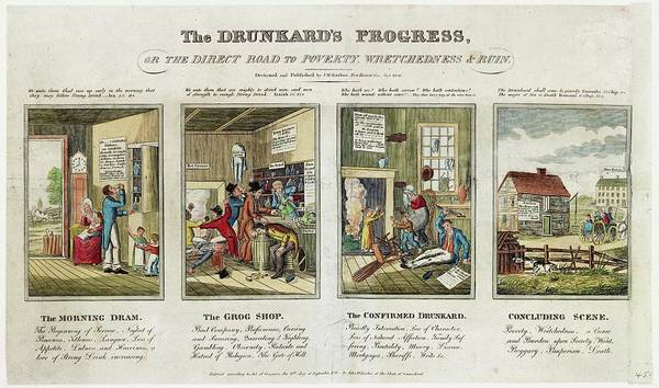 Alcoholism Wall Art - Photograph - The Drunkard's Progress by Library Of Congress