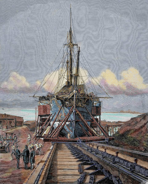 Dry Dock Photograph - The Dry Dock Barcelona Engraving by Prisma Archivo