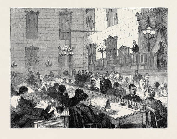 Wall Art - Drawing - The Dual Government In South Carolina Speaker Mackey by English School