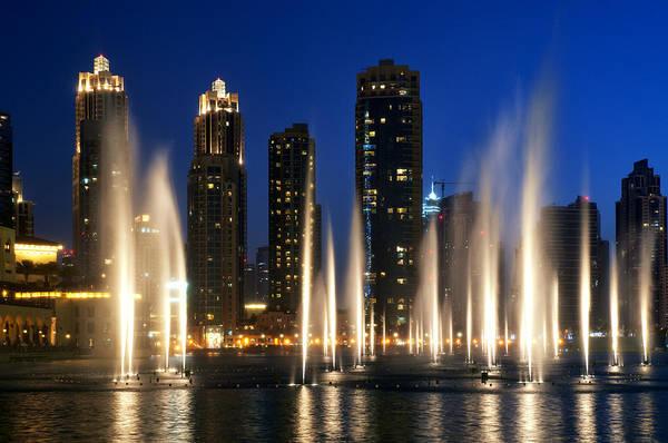 Photograph - The Dubai Fountains by Fabrizio Troiani