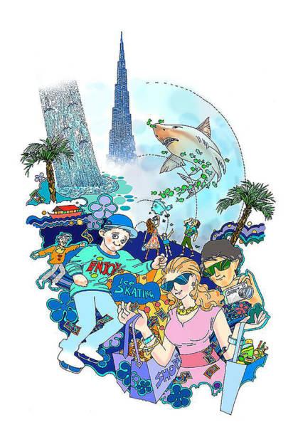 The Dubai Mall-sky Is The Limit Art Print