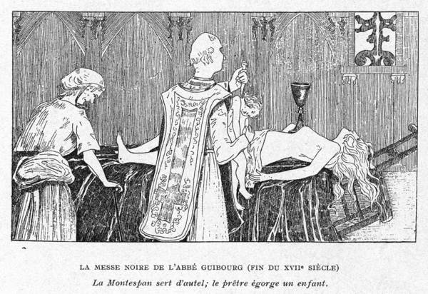 Black Magic Drawing - The Dubious Abbe Guiborg, Assisted by Mary Evans Picture Library