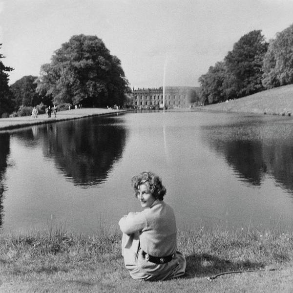 Middle Aged Photograph - The Duchess Of Devonshire At Devonshire Palace by Cecil Beaton