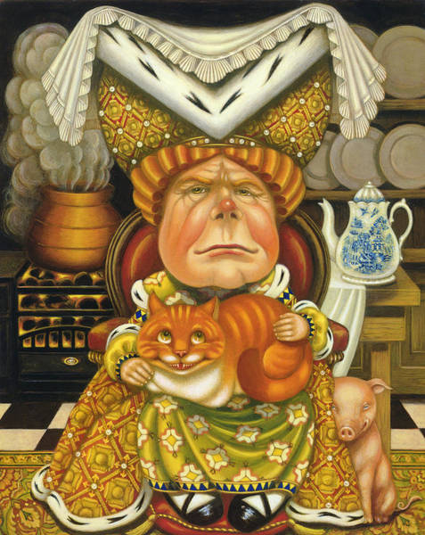 Alice In Wonderland Photograph - The Duchess Oil & Tempera On Panel by Frances Broomfield