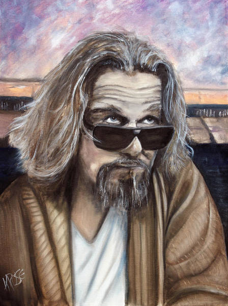 The Big Lebowski Painting - The Dude by James Kruse
