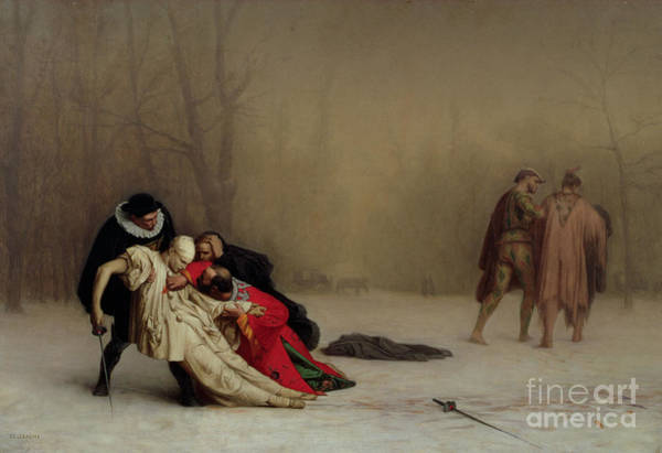 Dueling Wall Art - Painting - The Duel After The Masquerade by Jean Leon Gerome