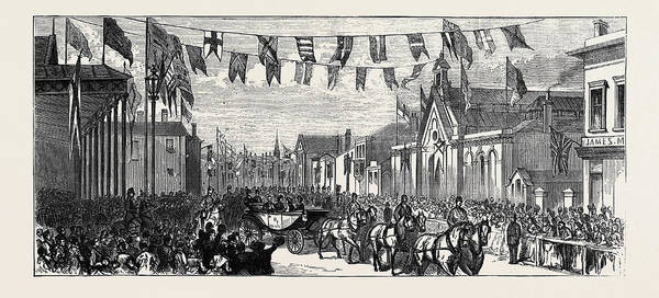 Railroad Station Drawing - The Duke And Duchess Of Teck At Southport Arrival by English School