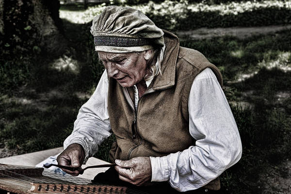 The Dulcimer Man Art Print