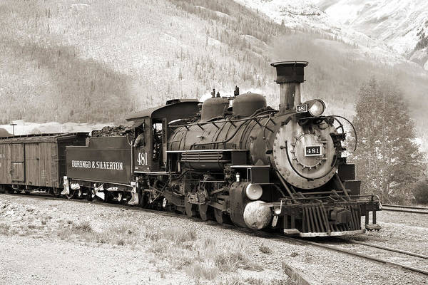 Steam Engine Photograph - The Durango And Silverton by Mike McGlothlen