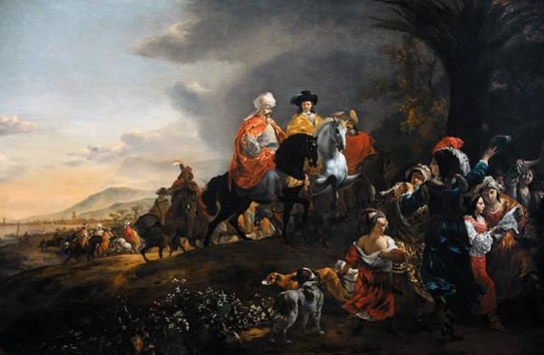 Field Trip Photograph - The Dutch Ambassador On His Way To Isfahan, C. 1653-1659, By Jan Baptist Weenix 1621-c.1659 by Bridgeman Images