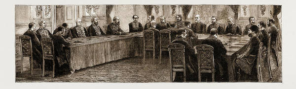 Wall Art - Drawing - The Earl Of Beaconsfield The First Sitting Of The Berlin by Litz Collection
