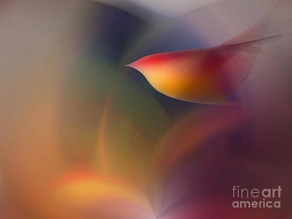 Fractal Landscape Digital Art - The Early Bird-abstract Art by Karin Kuhlmann