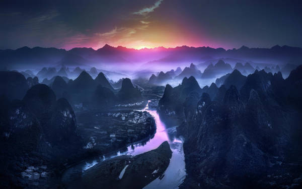 Chinese Photograph - The Earth Awakening by Jes??s M. Garc??a