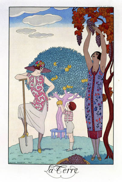 Spade Painting - The Earth by Georges Barbier