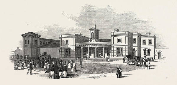Railroad Station Drawing - The East Anglian Railway The Station At Ely by English School