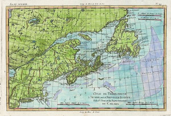 Wall Art - Drawing - The East Coast Of North  America by Mary Evans Picture Library