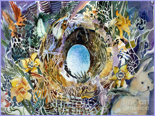 Egg Mixed Media - The Easter Bunny by Mindy Newman