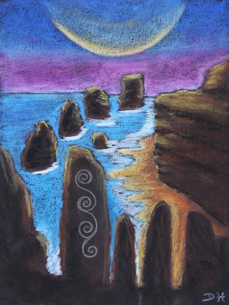 Pastel - The Ebbing Tide by Diana Haronis