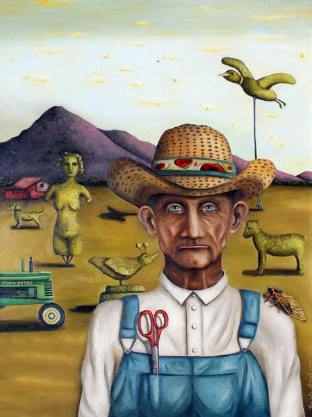 Painting - The Eccentric Farmer Edit 5 by Leah Saulnier The Painting Maniac