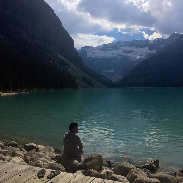 The Canadian Photograph - Andrew By The Lake by Sharon Putri