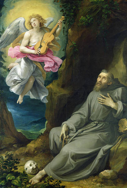 Assisi Painting - The Ecstasy Of St. Francis Of Assisi by Guiseppe Cesari