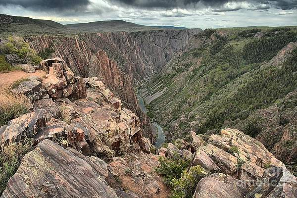 Photograph - The Edge Of Back Canyon by Adam Jewell