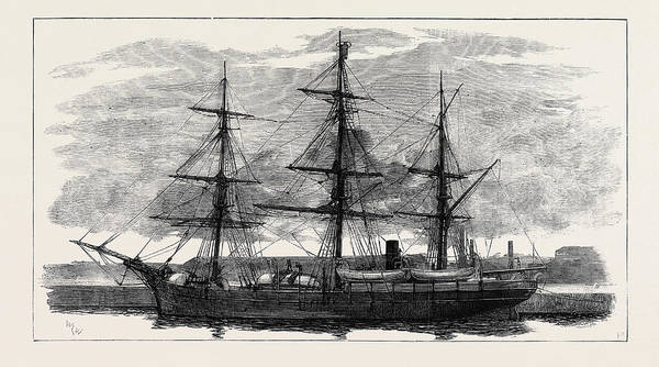 Wall Art - Drawing - The Eira Arctic Relief Expedition Under Captain Sir Allen by English School