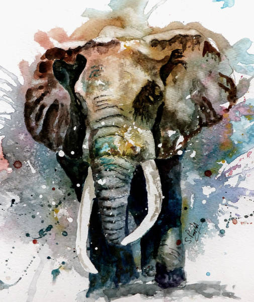 Ears Painting - The Elephant by Steven Ponsford