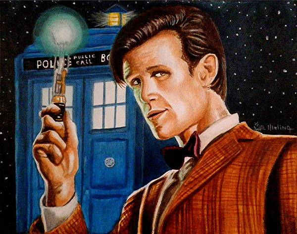 Bbc Painting - The Eleventh Doctor by Al  Molina