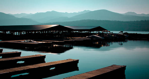 Photograph - The Elkins Boathouse On Priest Lake by David Patterson