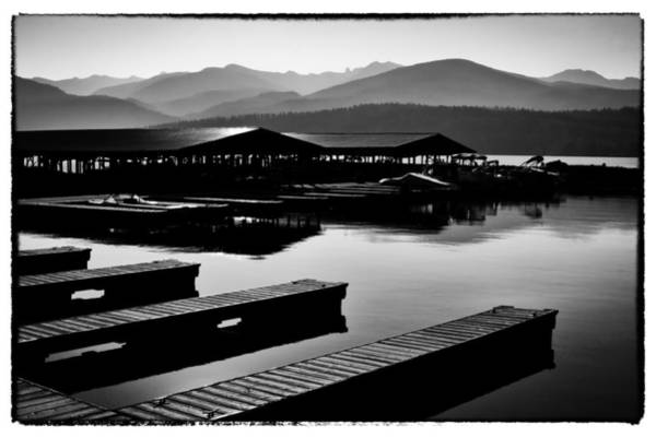 Priest Lake Photograph - The Elkins Marina On Priest Lake Idaho by David Patterson