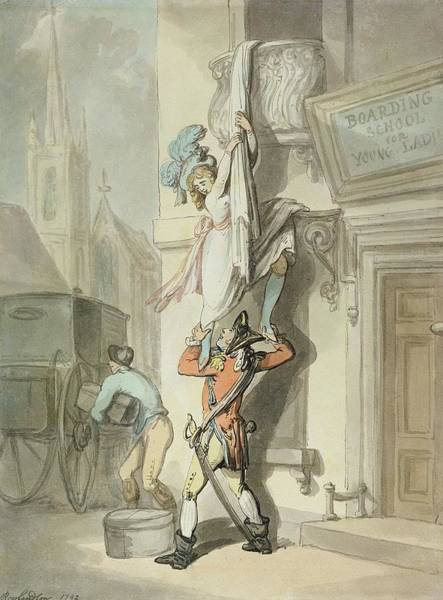 Porter Photograph - The Elopement, 1792 Wc With Pen & Ink Over Graphite On Paper by Thomas Rowlandson