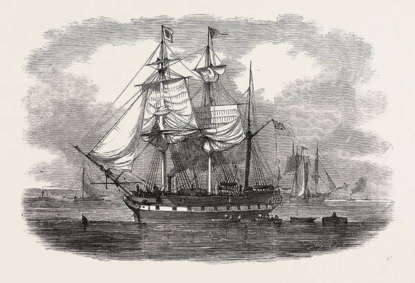 New South Wales Drawing - The Emigrant Ship Artemisia, Bound For Moreton Bay by Welsh School